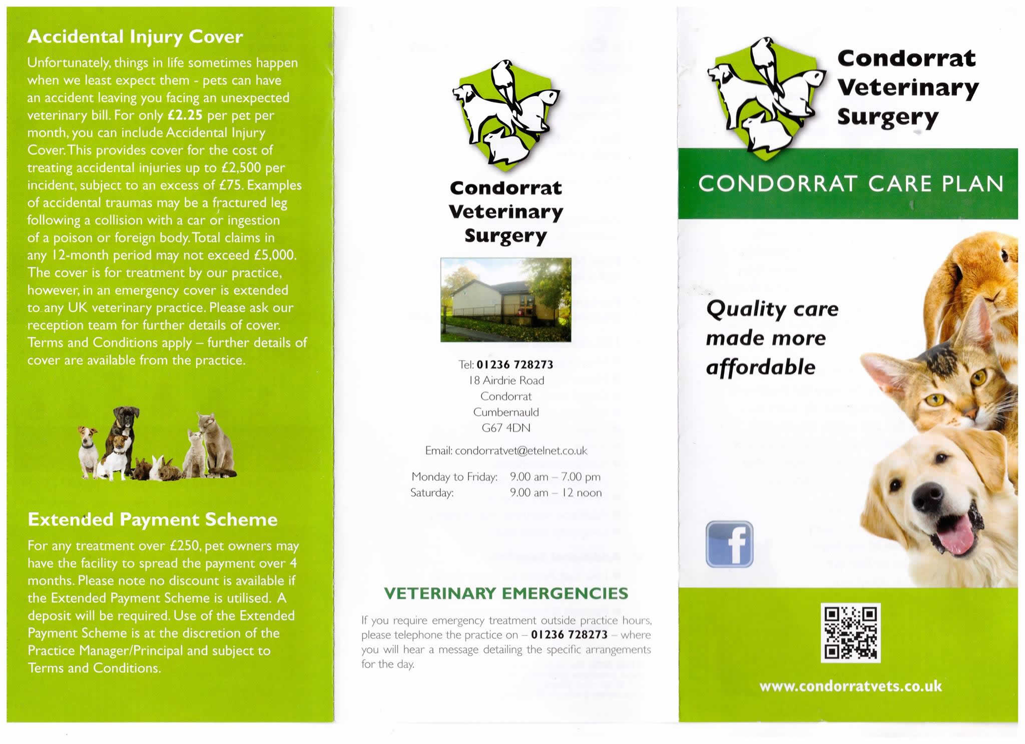 Condorrat vets pet health plan